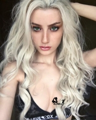 SD085-24'' Long blonde with wave synthetic lace front wig