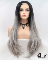 "OD007-24"" 2019 the most fashionable new gray small lace wig"