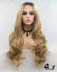 "OD006-24"" 2019 the most fashionable new brown wave small lace wig"