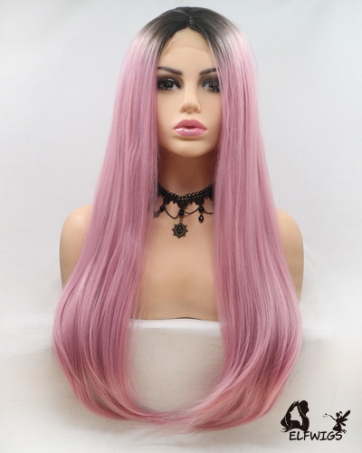 "UP003-24"" 2019 most fashionable new pink u-part lace wig"